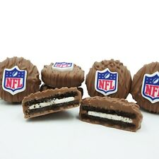 Philadelphia Candies Licensed NFL Football Milk Chocolate Covered OREO® Cookies