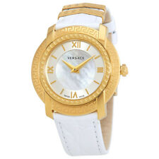 Versace DV25 Mother of Pearl Dial White Leather Ladies Watch VAM01 0016