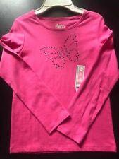 Circo NWT Girls Size M (7/8) Butterfly Dark Pink Long Sleeve Shirt