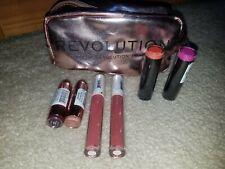 Revolution Makeup Lipstick & Gloss Lot of 6 +Bag Boudoir Crime Bouncy Chauffeur