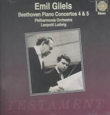 """EMIL GILELS PLAYS BEETHOVEN: PIANO CONCERTOS, NOS. 4 & 5 """"EMPEROR"""" NEW CD"""