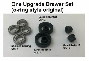 Ball bearing upgrade steelcase tanker desk drawer roller o-ring style