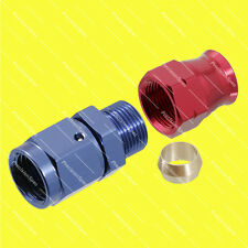 "AN6 Female to 3/8"" (9.5mm) Hardline Tube Fitting Adapter - Red / Blue"