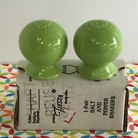 Fiestaware Chartreuse Salt and Pepper Shakers Fiesta Green Set of Ball Shakers