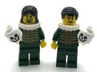 LEGO 2 NEW THESPIAN ACTORS MINIFIGURE CASTLE SERIES FIGURES WITH SKULL