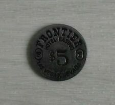 Vintage Frontier Hotel and Casino $5 Token Silver One Sided RARE Las Vegas NV