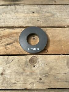 Steel weight plates 2x1.25kg (PAIR) - Available with a 1inch & 2inch diameter
