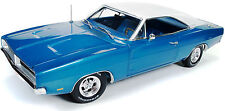 1969 Dodge Charger  BLUE 1:18 Auto World 1100