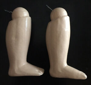 PAIR OF REPRO ANTIQUE WOODEN LOWER LEGS - DOLL BODY REPLACEMENT PARTS