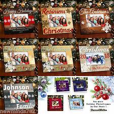 Personalized CHRISTMAS HOLIDAY PICTURE PHOTO FRAME Wood 7 Designs