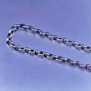 """16"""" 4mm, vintage Italy Sterling 925 silver oval circle chain necklace"""