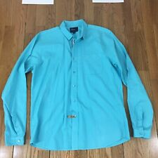Men's Fred Perry Slim Fit Blueish Button Down Long Sleeve Cotton Shirt L Large