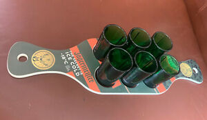 Original JAGERMEISTER 1 X Tray And 6 X Shot Glasses Rare - Jager