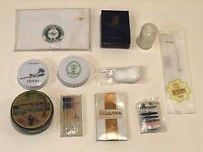 Lot of 11 Vintage Hotel Amenities - Sewing Kit, Shoe Shine, Shower Cap Etc.