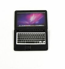 Accessories Miniature Dollhouse laptop Computer Apple Macbook Air  Size Black
