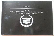 GM 2003 Cadillac CTS Navigation Manual #25757065A