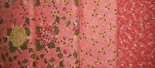4 YDS Riverwoods My Cottage Garden Quilt Fabric ~Pinks