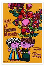 "Spanish movie Poster 4 film""The Queen of SNOW""Children.Children room.School.art"