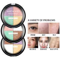 4 Colors Concealer Corrector Highlighter Foundation Cream Quad Palette Makeup