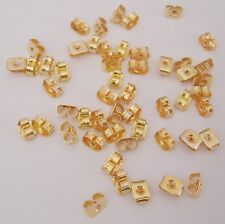 Butterfly Style Earstud Back Stoppers Gold Plated-100pcs.