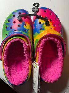 Crocs Classic Lined Tie Dye Electric Pink/Multi Unisex Size M4/W6