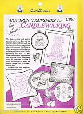 Aunt Martha's Hot Iron Transfers for Needlework Candlewicking C940