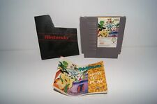 Nintendo Nes The Flintstones with manual and Nintendo Dust Cover - Cart Sleeve