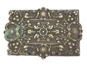 .LATE 1800s / ART NOUVEAU ERA LARGE REPOUSSE EPNS MATCHBOX HOLDER