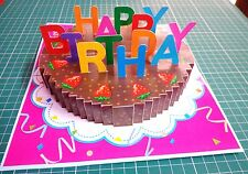 3D Pop up Birthday GREETING CARD Handmade Folding 3_D Gift Cake1 India Make