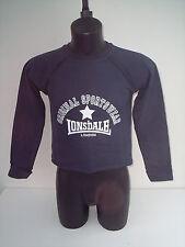 felpa lonsdale,sport palestra blu tg 6 ( xs)