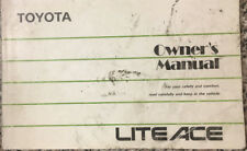 TOYOTA LITE ACE OWNER'S MANUAL 1989