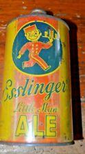 "Esslinger's ""Little-Man"" Ale Irtp Quart Cone Top Beer Can Off Grade"