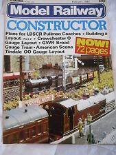 BRITISH RAILWAY CONSTRUCTOR MAG FEB 1981 PULLMAN COACHES CREWCHESTER GWR TRAIN