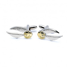 Official Harry Potter Golden Snitch Silver Plated Costume Cufflinks