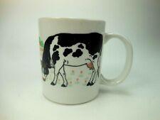 Vintage Cow Coffee Cup Mug Farm Milk Cattle