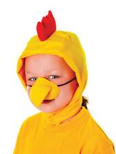 Para niños de pollo Fancy Dress Kit Set Disfraz-Capucha Y Nariz De Animales De Granja