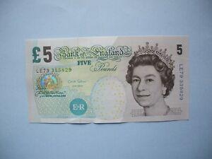 £5  Old Five Pound Note  LE prefix-1st   Paper Collectable