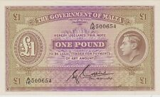 More details for p20b malta one pound banknote in mint condition issued in 1940