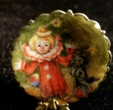 "1:12 Dollhouse Miniature~Hand painted ""China By Ina"" Clown Plate>> SO cute!!"