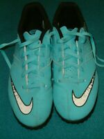 Nike Turquoise Astro Turf Football Boots. UK 5. EU 38. Width 24 cms. Exc Cond.