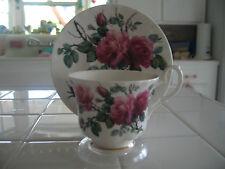 Beautiful Royal Kent Fine Bone China Teacup Saucer Roses R Kirkham Prod 2001