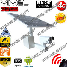 4G Security Camera Solar Wireless GSM Alarm Farm Remote View CCTV Outdoor 3G