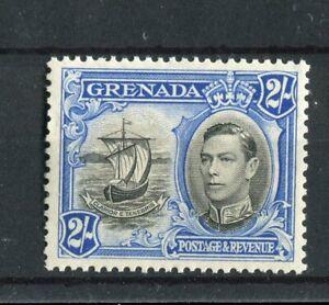 Grenada KGVI 1938-50 2/- p12.5 SG161a MNH R9/1 'lines through motto'