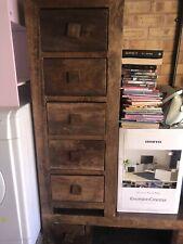Dakota Dark Mango Tall Boy Chest of Drawers | Solid Mango Wood Design | Moder...