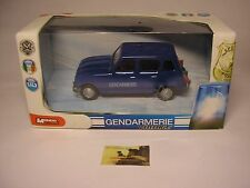 Macchinina Die-cast Mondo Motors Renault 4 Gendarmeria serie Vintage scala 1:43
