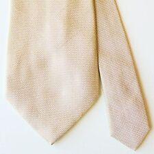 Banana Republic Yellow Purple Microdot Metallic 100% Silk Tie Made in Italy