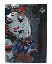 Manny Malhotra Signed 1997/98 Black Diamond Rookie Card #79