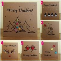 Handmade & Personalised Christmas Cards - Choice of 7 designs