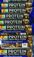 8 x Kind Protein Bars DOUBLE DARK CHOCOLATE NUT Best Before 10/01/2021 (beu2)