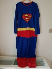 Mens Superman All In One Size M  Red/Blue <FF1243